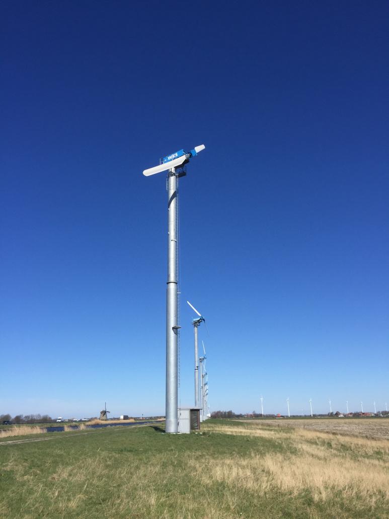 2 bladed turbine wes