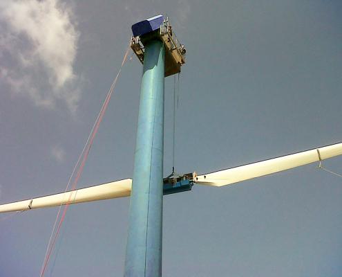 Hoisting crane – lowering rotor – 2